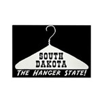 South Dakota - Hanger State Rectangle Magnet (10