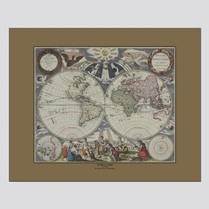 World Map c.1500's Small Poster