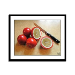 Tomatoes or Lematoes Framed Panel Print