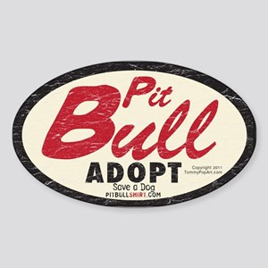 PITBULL TRUCKER Vintage 1970's Sticker (Oval)