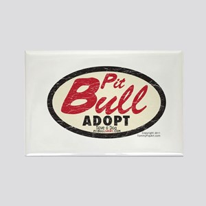 PITBULL TRUCKER Vintage 1970's Rectangle Magnet