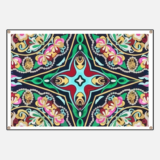 mexican embroidery floral bohemian Banner