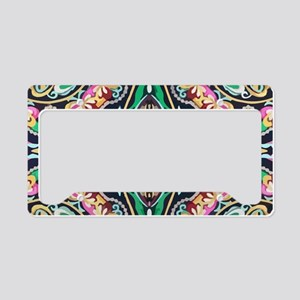 mexican embroidery floral boh License Plate Holder