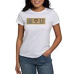 Peace Love Horses Women's T-Shirt