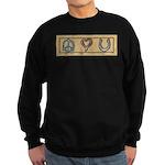 Peace Love Horses Sweatshirt (dark)