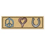 Peace Love Horses Sticker (Bumper 50 pk)