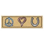 Peace Love Horses Sticker (Bumper 10 pk)