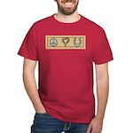 Peace Love Horses Dark T-Shirt