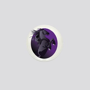 Fresian Horse Mini Button