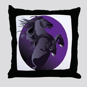 Fresian Horse Throw Pillow