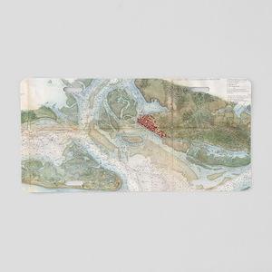 Vintage Map of Beaufort Har Aluminum License Plate