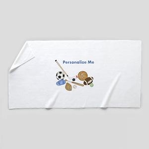 Personalized Sports Beach Towel