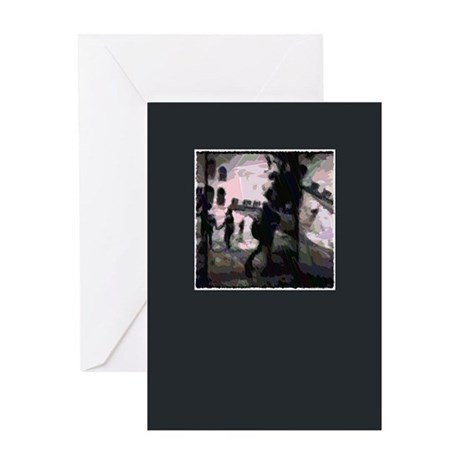 People on Campus Figurative Greeting Card