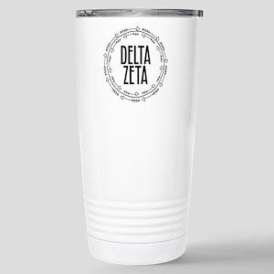 Delta Zeta Arrows 16 oz Stainless Steel Travel Mug
