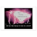 Large Tesla Conspiracy Poster