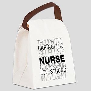 Nurse Text Canvas Lunch Bag