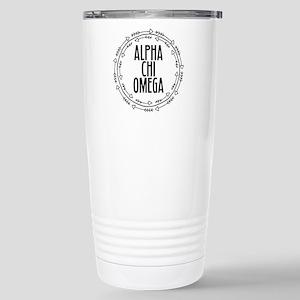 Alpha Chi Omega A 16 oz Stainless Steel Travel Mug