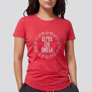 Alpha Chi Omega Arrows Womens Tri-blend T-Shirt