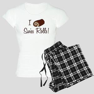 I Love Swiss Rolls Women's Light Pajamas
