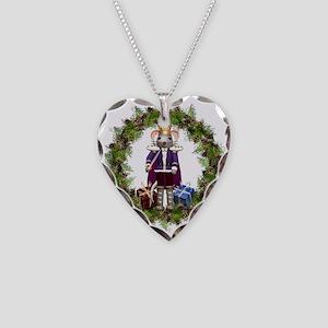 Mouse King Nutcracker Wreath Necklace Heart Charm