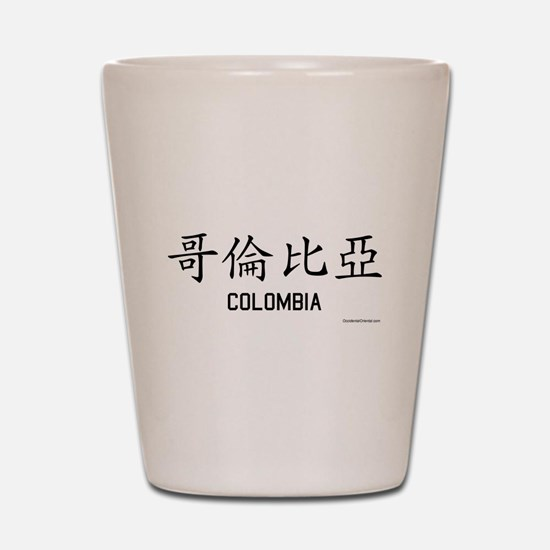 Colombia in Chinese Shot Glass