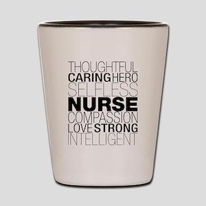 Nurse Text Shot Glass