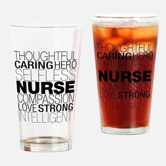 Nurse Text Drinking Glass