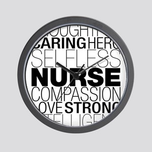 Nurse Text Wall Clock