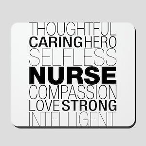 Nurse Text Mousepad