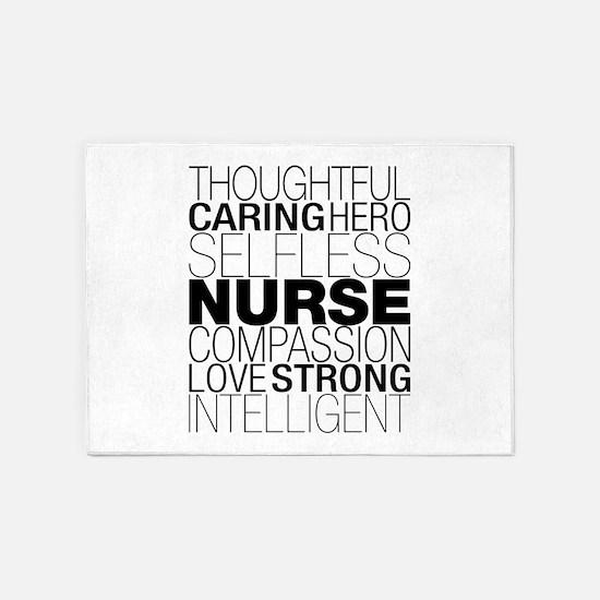 Nurse Text 5'x7'Area Rug