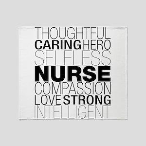 Nurse Text Throw Blanket