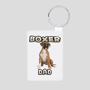 Boxer Dad Aluminum Photo Keychain