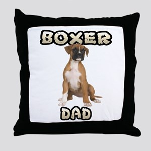 Boxer Dad Throw Pillow