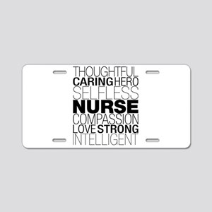 Nurse Text Aluminum License Plate