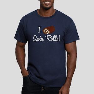I Love Swiss Rolls Men's Fitted T-Shirt (dark)
