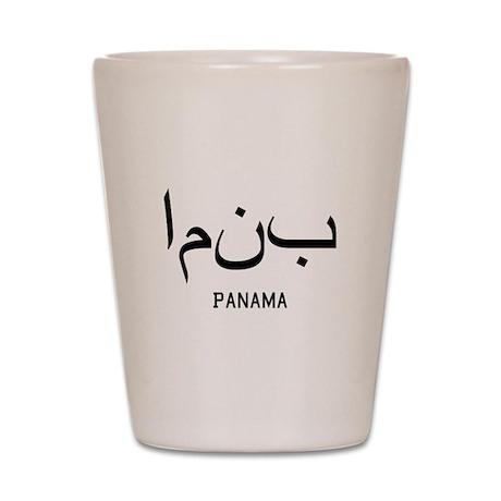 Panama in Arabic Shot Glass