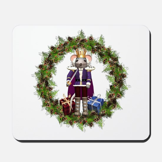 Mouse King Nutcracker Wreath Mousepad