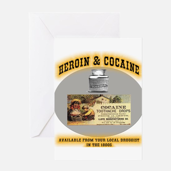 Cocaine & Heroin Greeting Cards
