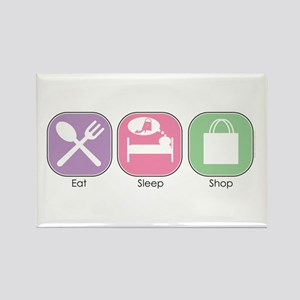 Eat Sleep SHOP Rectangle Magnet