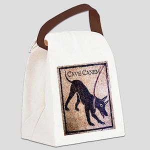 """""""Cave Canem"""" Canvas Lunch Bag"""
