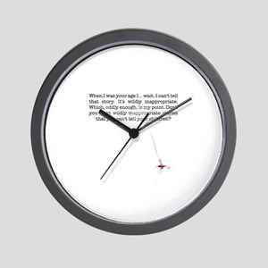 When I was your age... Wall Clock