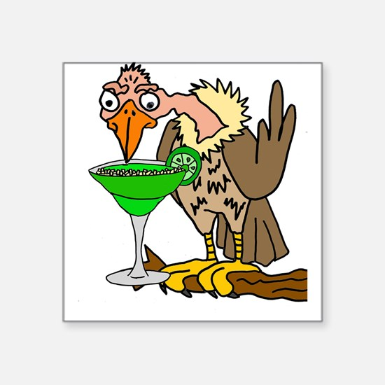 Vulture Drinking Margarita Sticker