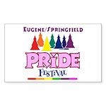 Eugene PRIDE Day Sticker (Rectangle 10 pk)