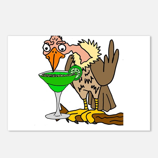 Vulture Drinking Margarit Postcards (Package of 8)