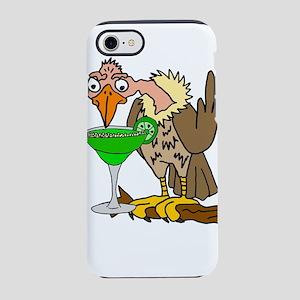 Vulture Drinking Margarita iPhone 7 Tough Case