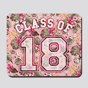 Class of 18 Floral Pink Mousepad