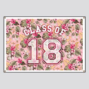 Class of 18 Floral Pink Banner