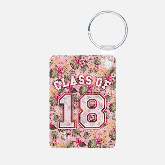 Class of 18 Floral Pink Keychains