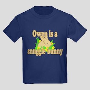 Owen is a Snuggle Bunny Kids Dark T-Shirt