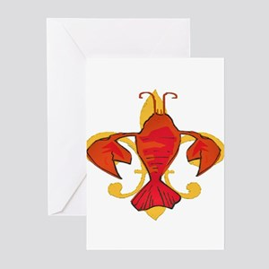 Crawfish Fleur De Craw Greeting Cards (Pk of 20)
